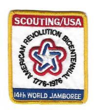 Boys Scouts Cloth Patch 14th World Jamboree Bicentennial Rev 1776-1976 BSA