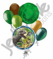 7 pc Jurassic World Dinosaurs Balloon Bouquet Party Decoration Happy Birthday