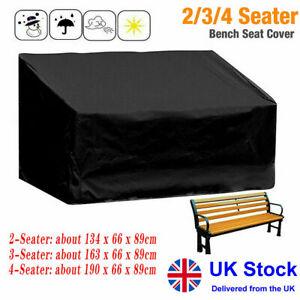 Heavy Duty 2 3 4 Seater Garden Bench Cover Seat Waterproof Weatherproof Outdoor
