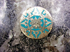 Enamel Brooch Mexican Silver and