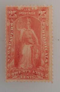 US 25c Newspaper & Periodicals Stamp. Used fair Previously Hinged #pr118
