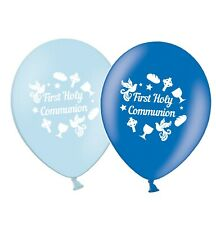 "First Holy Communion  12""  Sky Blue and Mid Blue Assorted Balloons pack of 15"