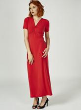 Kim & Co Brazil Knit Cap Sleeve Maxi Dress Regular Length Poppy L
