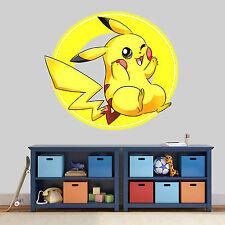 NEW XL 175 Pokemon Go Pikachu STICKER ROOM BOYS GIRLS VINYL WALL ART DECAL