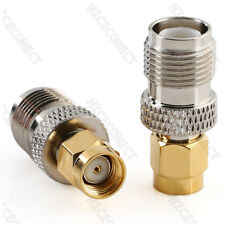 RP-SMA Male (Female Pin) to RP-TNC Female (male pin) Adapter Coaxial Connector