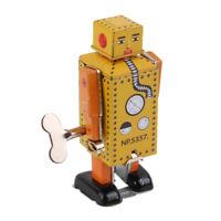 Lilliput Robot Retro Clockwork Wind Up Tin Toy w/ Box Collectibles Kids Gift