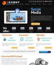 Social Marketing, SEO, Backlink Services Reseller Website  - Free Install, Host