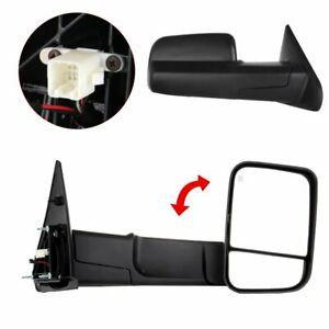 Power Heated Side Mirrors For 2002-08 Dodge Ram 1500 2003-09 2500/3500 Tow Pair