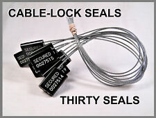 CABLE-LOCK SECURITY SEALS, CARGO / TANKER, BLACK, ALL-METAL, THIRTY SEALS