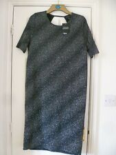 BNWT TOPSHOP Maternity Black & Silver Sparkly Party Pencil Dress - Size 16