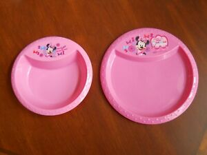 """Minnie Mouse 2 pc set ~  8"""" Plate & 6"""" Bowl ~ Pink"""