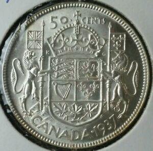 1937 Canada 50c Silver Half Dollar