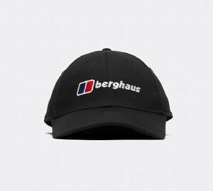 Mens Berghaus Logo Recognition Baseball Cap Hat Black BNWT OSFM