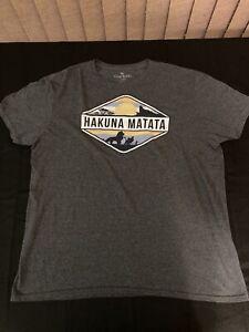 "Disney The Lion King ""Hakuna Matata"" T-Shirt Gray Size Large"
