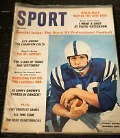 Vintage Sport Magazine December 1960 Johnny Unitas Baltimore Colts