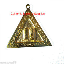 Scottish Rite Officers Jewel Orator  Golden Memphis Misraim Rite Masonry Masons