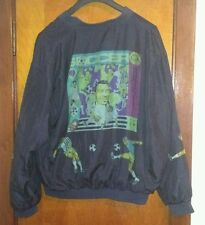 Limited Edition 1994 Pele 100% Silk Lithograph Jacket Soccer Large Brazil