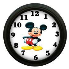 Mickey Mouse Bedroom Decor Wall Clock Kids Room Playroom Animated Character