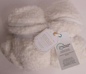 Pottery Barn Teen Lounge around pillow cover, Cozy Recycled Sherpa, ivory