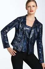 St. John Collection Sequined Leopard Print Santana Knit Jacket ( Size 6)