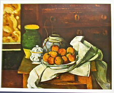 Paul Cezanne Authentic Poster Print VESSELS FRUIT & CLOTH IN FRONT OF A CHEST