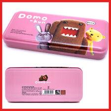 Domo Kun Metal Pencil Case - Pink Tin Domo Stationery