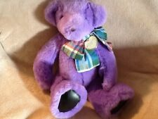 "Victoria's Secret purple teddy bear 15"" Plush Soft Toy Stuffed Animal"