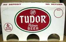 TUDOR A&P PILSNER BEER Old 6 Pack Bottle Holder, Vintage Carrier, MARYLAND, 1970