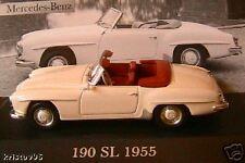 MERCEDES BENZ 190 SL 1955 1.4 W121 B2 IXO 1/43 GERMANY DEUTSCHLAND ALTAYA WEISS