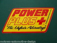 POWER PLUS RACING OIL DECAL STICKER RAT ROD GASSER SUPER PRO STOCK IMPORT