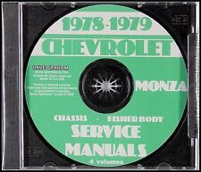 1978-1979 Chevrolet Monza Shop Manual and Body Repair CD Chevy Service 78 79