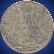1915 Canada 25 Cent Silver Coin (5.83 grams .925 Silver)