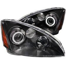 Pair Black Halo Projector Headlights (Halogen Ver.) for 2002-2004 Nissan Altima