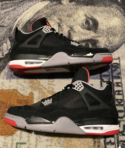 Nike Air Jordan 4 Bred Playoff Size 12 2012 Rare - Excellent 308497-089