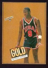 1984 Showtime Gold Promo Michael Jordan Rookie Card Team USA (J)