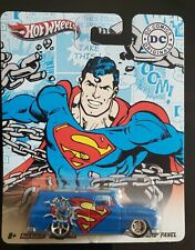 2011 HOT WHEELS POP CULTURE DC SERIES SUPERMAN  64 GMC PANEL  REAL RIDERS