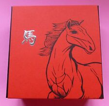 2014 ROYAL MINT LUNAR HORSE 5oz  SILVER PROOF TEN POUND £10 COIN COA AND BOX