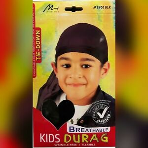 Murry Fashionable Tie-Down Breathable Kids Durag Wrinkle Free Expandable M1951