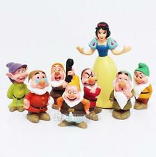 Snow White and the Seven Dwarfs Action Figures Cake Topper Toys Set Collection