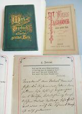 Handschrift: Tagebuch ESSENBACH (?) 1880, in seltenem Vordruck // Unikat