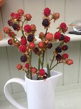Artificial Fruit Stems Blackberry Raspberry Autumn 2 stems £13.99