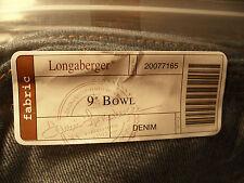"Genuine Longaberger 9"" Bowl Basket Fabric Liner Denim New in Pack"
