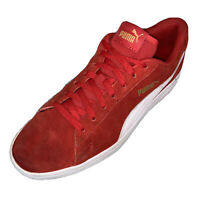 RARE Gold Label Puma Suede Men's Shoes Red White Suede Leather Athletic Shoes 9
