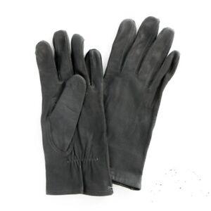 Original Bundeswehr Handschuhe Leder Lederhandschuhe ungefüttert BW Grau 7.5-10