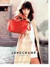 Publicité Advertising 068  2014   Longchamp collection sac pliage cuir