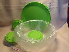Tupperware  6 Liter Tafelperle + 3 Minis 275 ml dabei, Deckel grün
