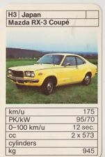 Kwartet kaart / Quartet Card / Spielkarte Cars Mazda RX-3 Coupe
