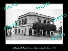 Old Postcard Size Photo Of Adelaide Sa Kentish Arms Hotelstanley St 1940