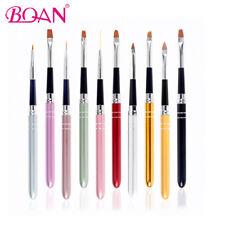 10Pcs Acrylic Nail Art Brush Set Polish UV Gel Drawing Painting Liner Brush Pen