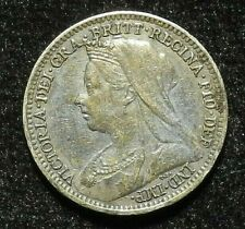 Great Britain 1897 3 Pence UK Nice Silver Coin KM# 777
